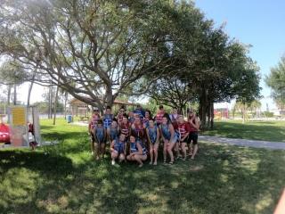 Softball Group Kayaking