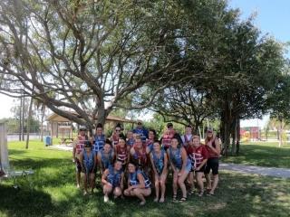 Softball Group Kayaking 2